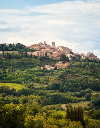Landscape of Montepulciano, a small town in Tuscany, Italy. photo