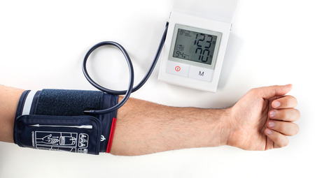 systole: Checking the blood pressure with a modern digital equipment