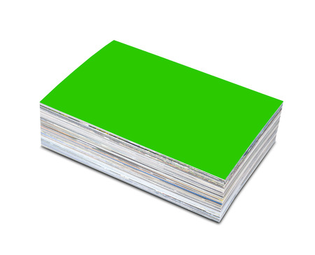 customizable: Stack of the customizable photos isolated on a white background