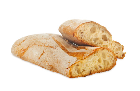 Ciabatta, Italian bread isolated on white background Stok Fotoğraf - 46481651