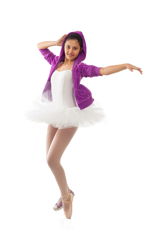 disciplines: Ballet dancer, classical and modern concept of ballet. Stock Photo