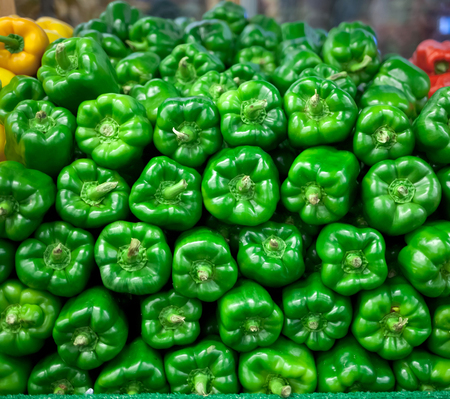 chelsea market: Fresh bell peppers for sale at chelsea market in New York Stock Photo