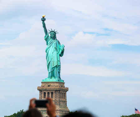 take a history: The Statue of Liberty in New York City