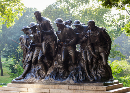 deeds: Bronze statue created by Karl Illava in 1927. It celebrates the deeds of the 7th Infantry Regiment of New York in the First World War.