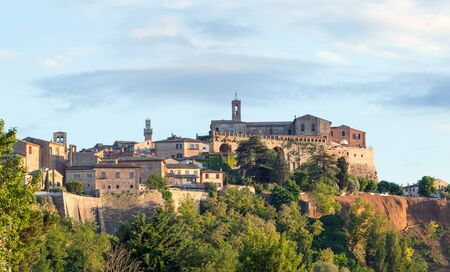 montalcino: Landscape of Montepulciano, a small town in Tuscany, Italy.