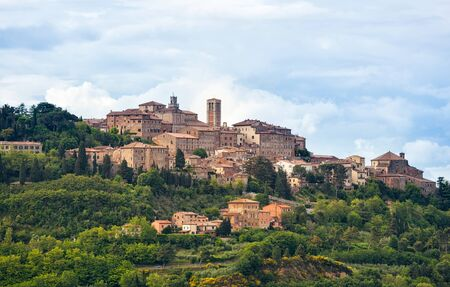montepulciano: Landscape of Montepulciano, a small town in Tuscany, Italy.