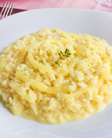 positano: Tasty lemon rice, typical food of Positano. Stock Photo