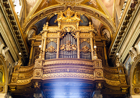 pipe organ: Pipe organ of the Shrine of the Virgin of the Rosary of Pompeii.