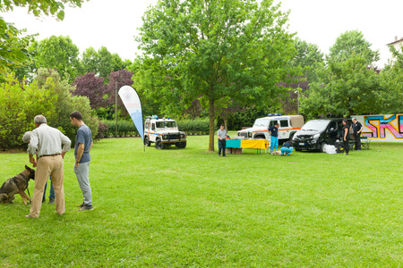valorization: Montelupo Fiorentino, Italy - June 12, 2016: A Dogs Life, event dedicated to the valorization and the dog utilities. Demonstrations held in Ambrogiana park.