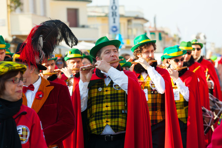 reportage: Viareggio, Italy - March 03, 2013: 140th edition of the Carnival of Viareggio. Every year the Carnival attracts blackberries than 600 thousand to attend the magic of the grand parades.