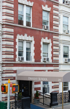 preparatory: New York City, Usa - July 07, 2015: Dwight School is an independent college preparatory school located in Manhattan, founded in 1872 by Julius Sachs as part of the Sachs Collegiate Institute. Editorial