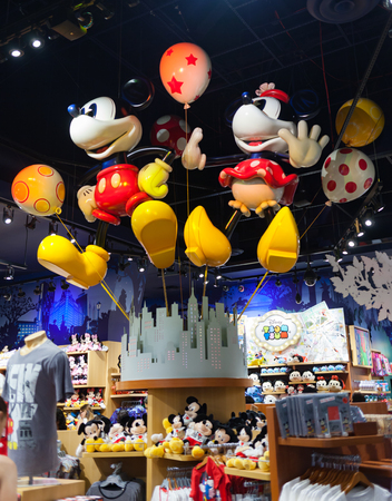 New York City, Usa - July 09, 2015: inside of Times Square Disney Store. Disney Store is an international chain of specialty stores selling only Disney related items, many of them exclusive.
