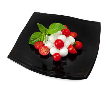 Mozzarella di Bufala, typical dairy product of the Campania region of southern Italy. Stock Photo