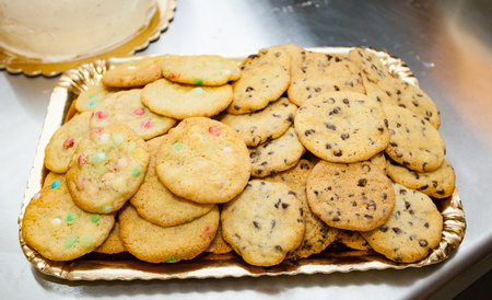 American cookies. There are many recipes but the most famous are those with chocolate chips and colored candies.