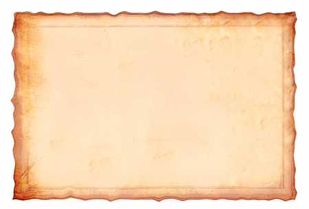 Antique yellowish parchment paper grungy background texture 版權商用圖片