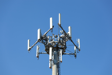 Antenna used to repeat the signal on a mobile telephony network