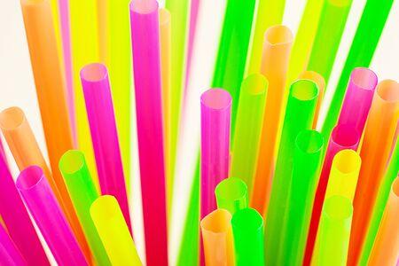Plastic rietjes, plastic rietjes voor eenmalig gebruik.