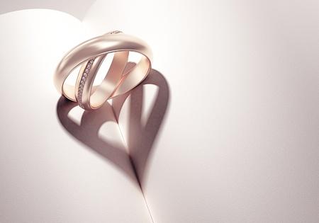 bodas de plata: heartshadow con anillos en un libro de media - card - escriba su texto en el espacio en blanco