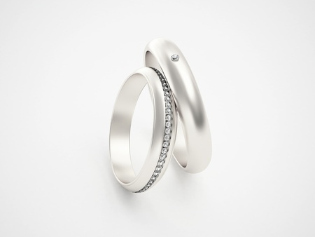Silver rings with diamonds