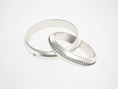 Silver rings with diamonds Stock Photo - 10784992