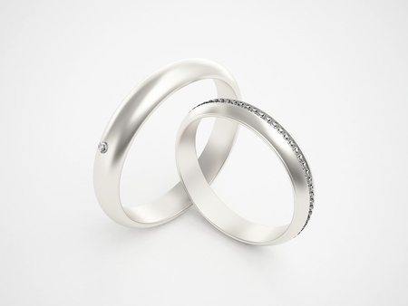 Silver rings with diamonds Stock Photo - 10784986