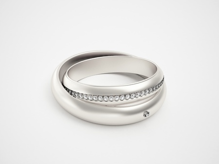 Silver rings with diamonds Stock Photo - 10784993