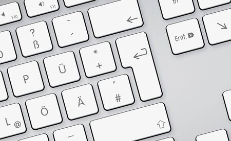 White keyboard buttons Stock Photo