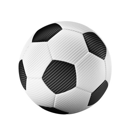 3D Isolated classic soccer on white background - easy to cutout - for championship worldcup sports concepts