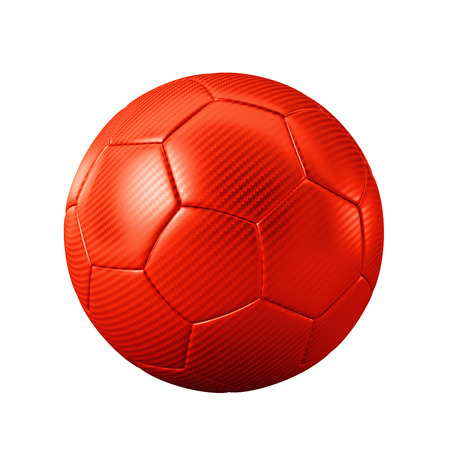 3D red classic soccer ball isolated - sports - game - worldcup