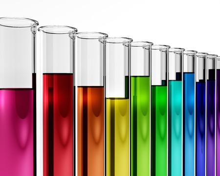 3d - chemistry - research - test tube - chemical, proof, mixture, experiment, solution, diagnostics, biotech, enzyme, results, regulators concept