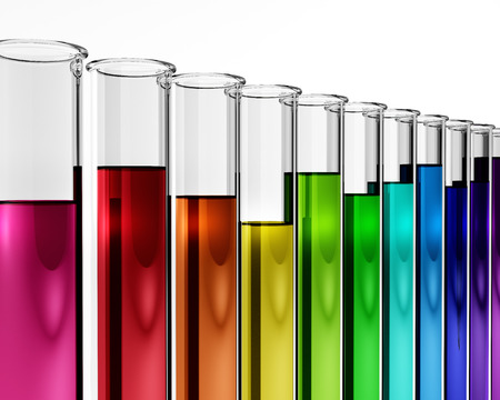 3d - chemistry - research - test tube - chemical, proof, mixture, experiment, solution, diagnostics, biotech, enzyme, results, regulators concept