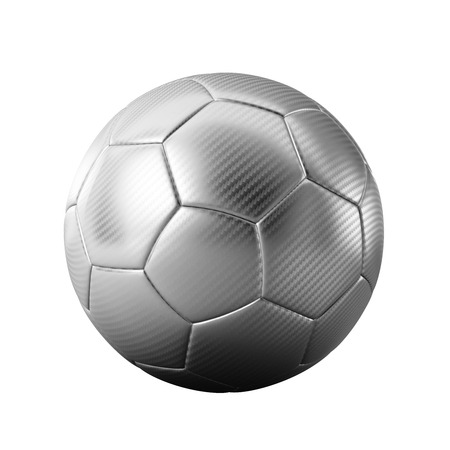 3D silver classic soccer ball isolated - sports - game - worldcup