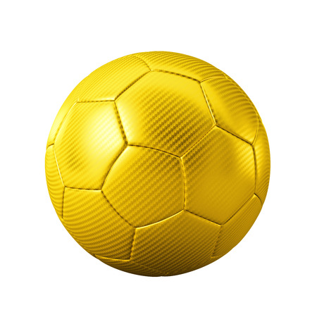 3D gold classic soccer ball isolated - sports - game - worldcup
