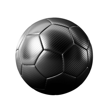 3D black classic soccer ball isolated - sports - game - worldcup