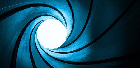 3d blue metal abstract focus target background