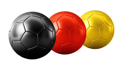 3D german colored soccer balls isolated sports game