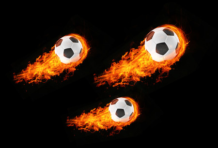 3d abstract expressive flame soccer football background