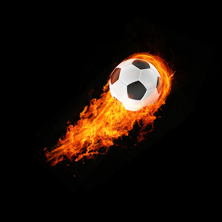 expressive 3d blazing football energy Object