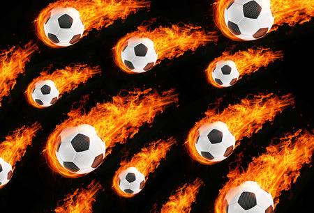 flamed: 3d abstract flamed football fireball background
