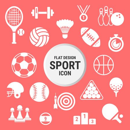 sport icon set, modern vector illustration concept  イラスト・ベクター素材