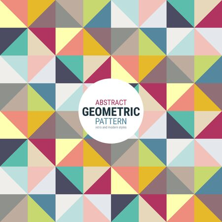 Abstract geometric pattern. A seamless vector background. This is a simple vector illustration with harmonious blend of retro and modern styles. The color can be changed if needed. Eps10 vector.
