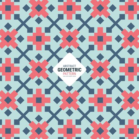 Abstract geometric pattern. A seamless vector background. This is a simple vector illustration with harmonious blend of retro and modern styles. 版權商用圖片 - 132181143