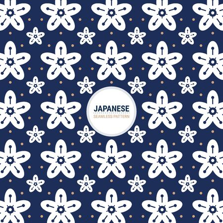 Japanese Sashiko Seamless pattern. This is a simple vector illustration with harmonious blend of retro and modern styles. The color can be changed if needed.