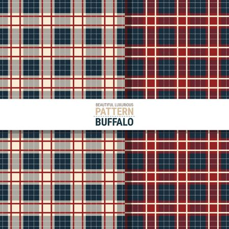 Beautiful luxurious pattern creative for buffalo, plaid, fabric, textile, clothes, tablecloth and other things. A seamless vector background. This is a simple vector illustration with harmonious blend of retro and modern styles. vector.
