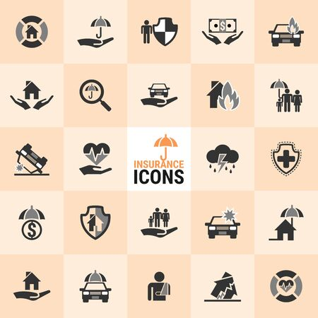 Excellent Insurance icons for designers in the design of all kinds of works. Beautiful and modern icon which can be used in many purposes.