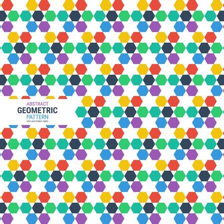 Abstract geometric pattern. A seamless vector background. This is a simple vector illustration with harmonious blend of retro and modern styles. The color can be changed if needed. vector.