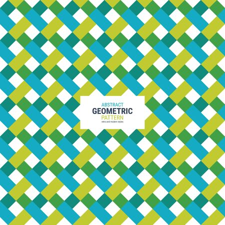 Abstract geometric pattern. A seamless vector background. This is a simple vector illustration with harmonious blend of retro and modern styles. The color can be changed if needed.