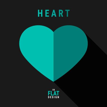Heart in flat design created for designers in the design of all kinds of works. Beautiful and lovely Heart which can be used in many purposes. Eps10 vector.