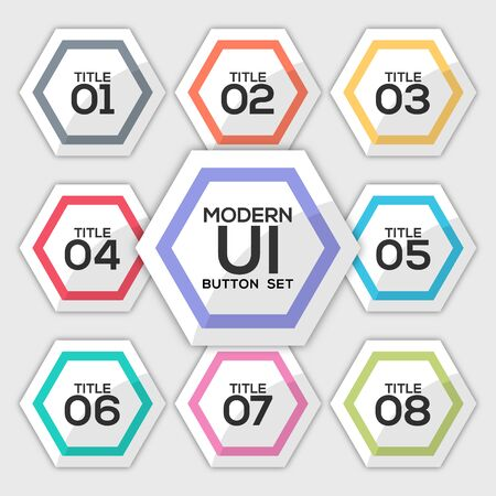 Modern user interface button set created for designers in the design of all kinds of works. Beautiful and modern Button which can be used in many purposes. Eps10 vector.