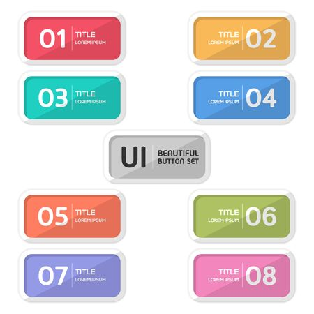 Beautiful user interface button set created for designers in the design of all kinds of works. Beautiful and modern Button which can be used in many purposes. vector.